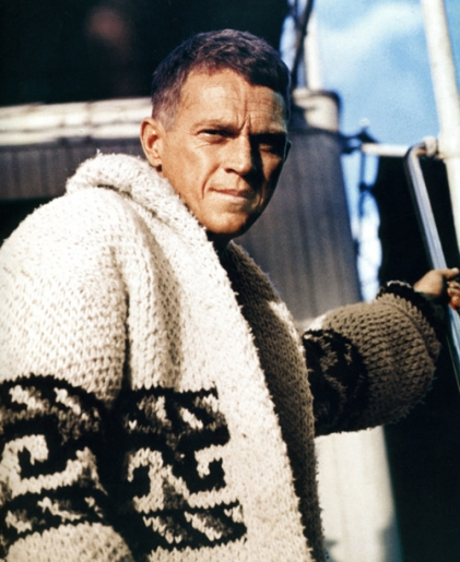 thumbs_steve mcqueen cardigan le mans, natural born world shakers